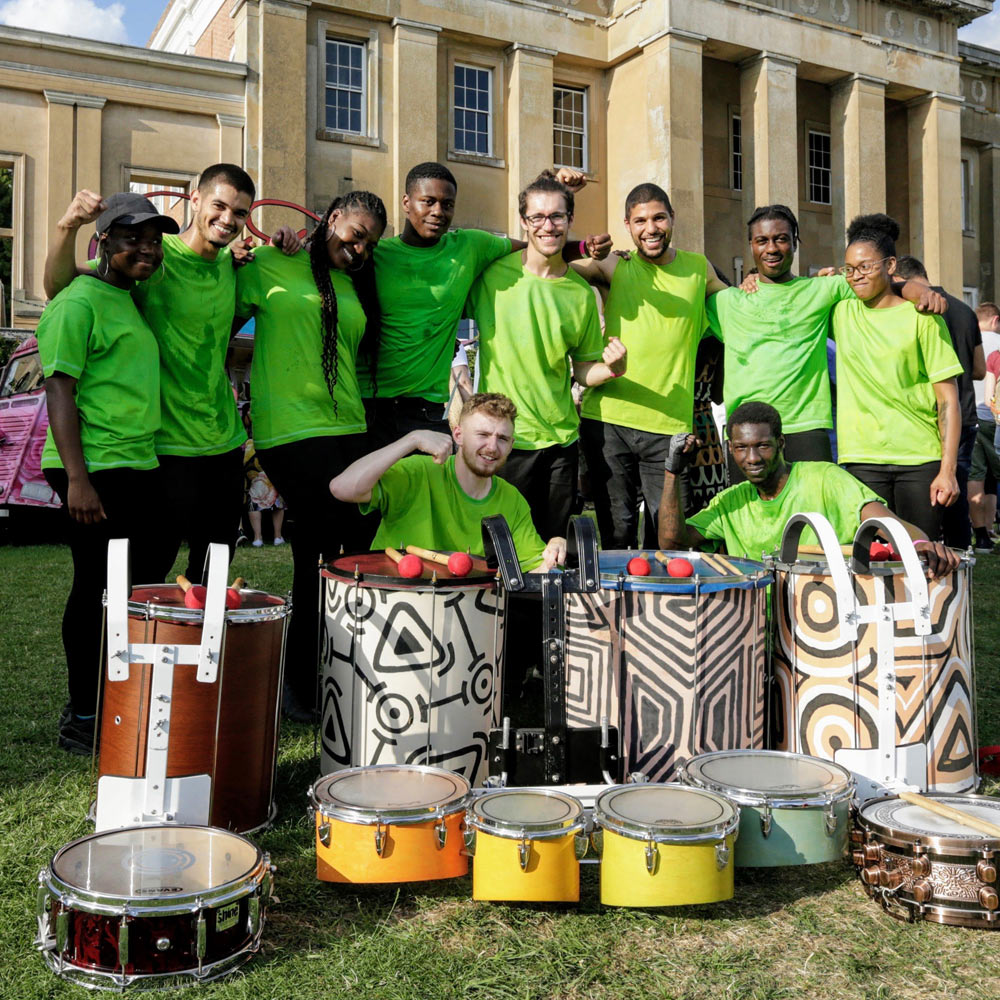 Hire samba drummers for carnival entertainment